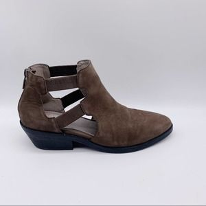 Eileen Fisher Ankle Leather Booties Cuban Heels